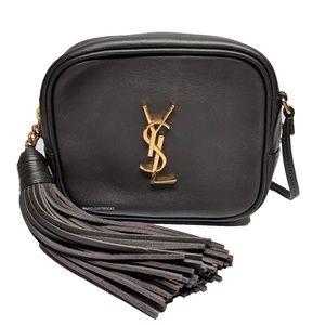 Saint Laurent Charcoal Grey Blogger Bag